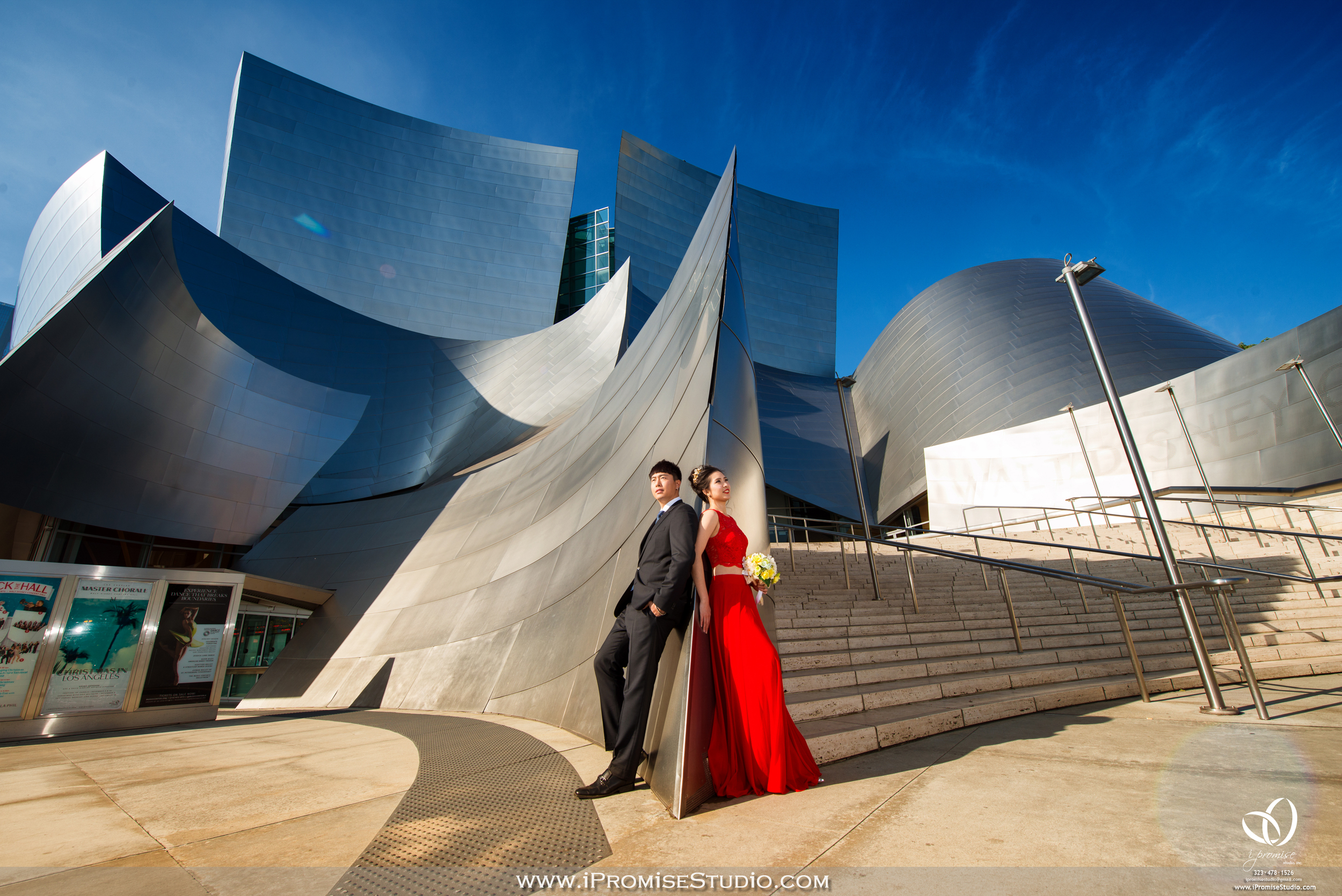 LA downtown Disney concert hall engagement wedding02.JPG