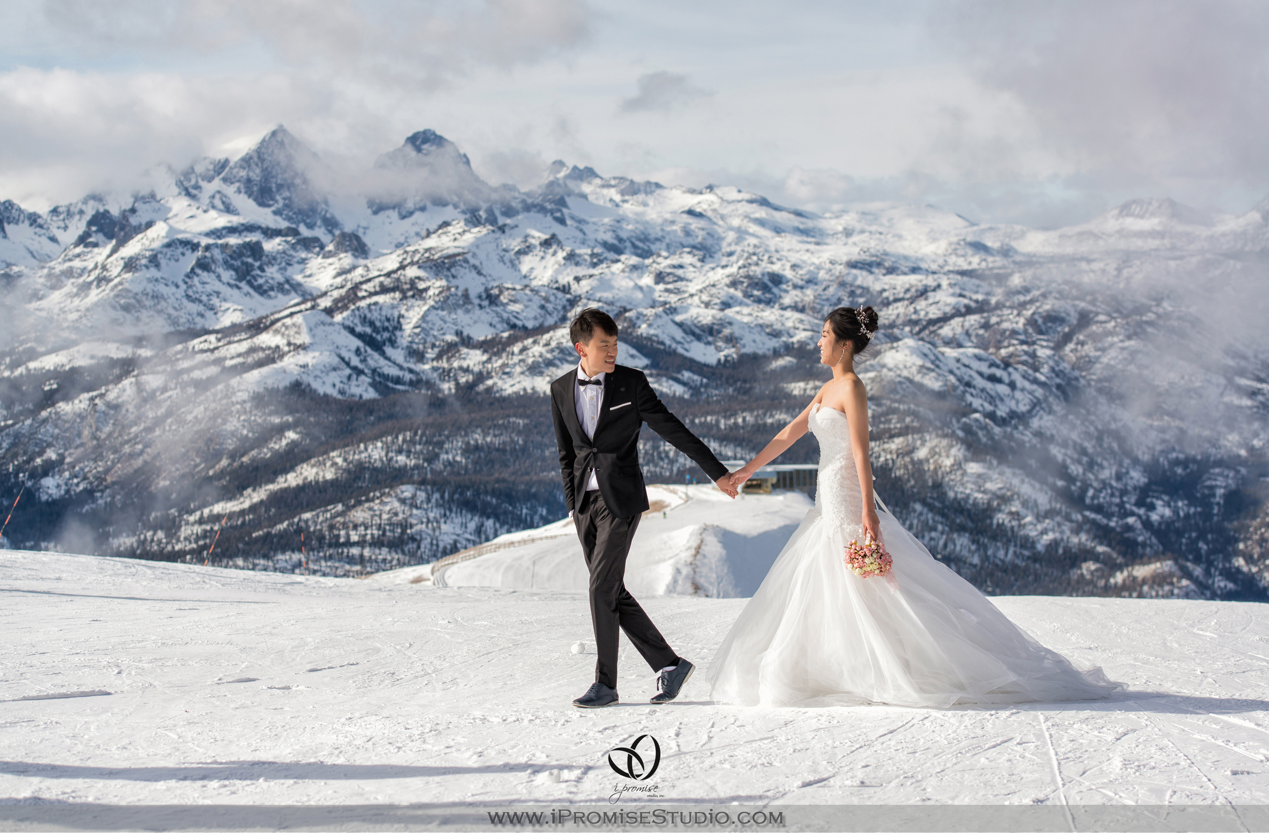 Mammoth Bigbear Lake Mountain  Snow Scene  engagement wedding 01.JPG