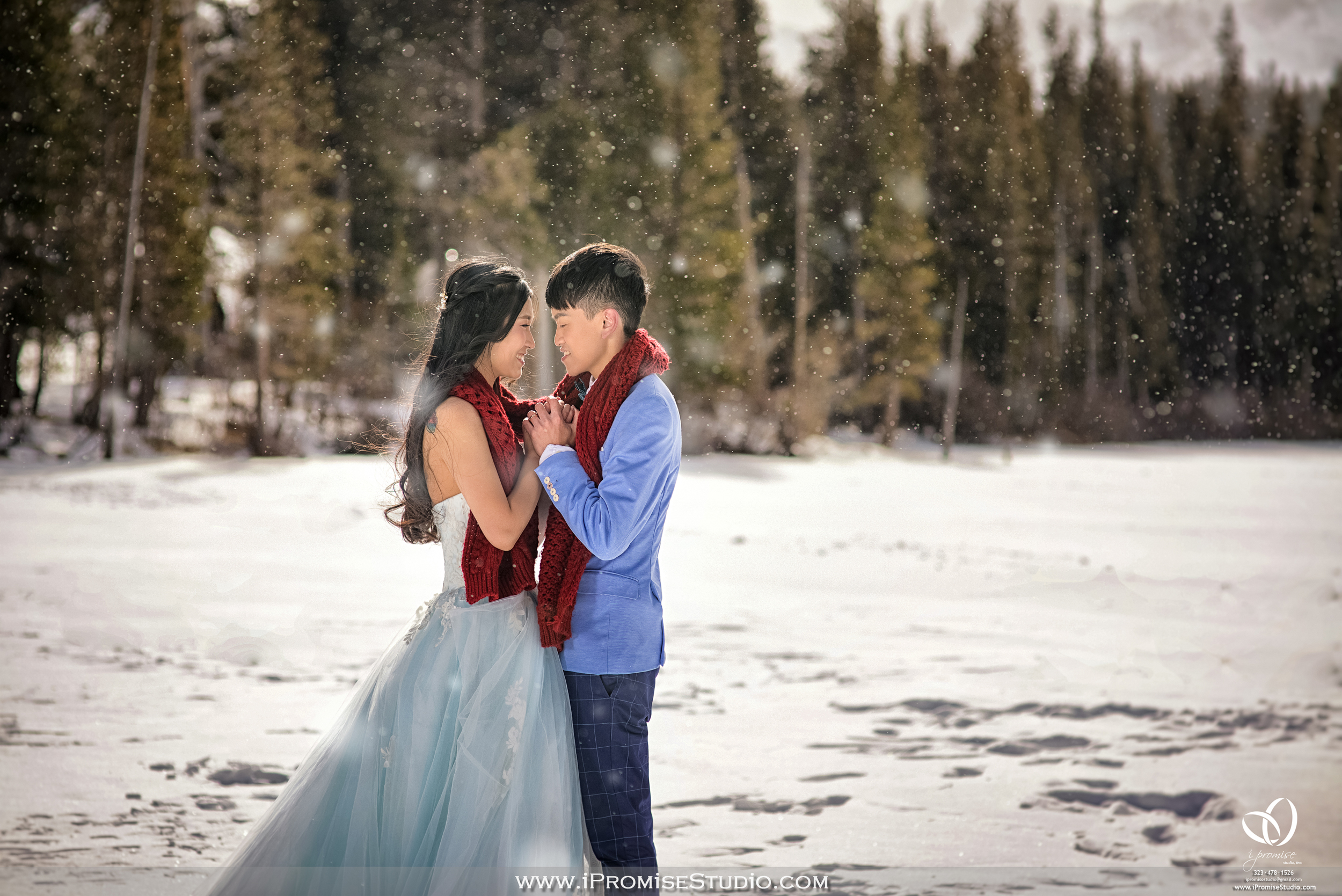 Mammoth Bigbear Lake Mountain  Snow Scene  engagement wedding 02.JPG