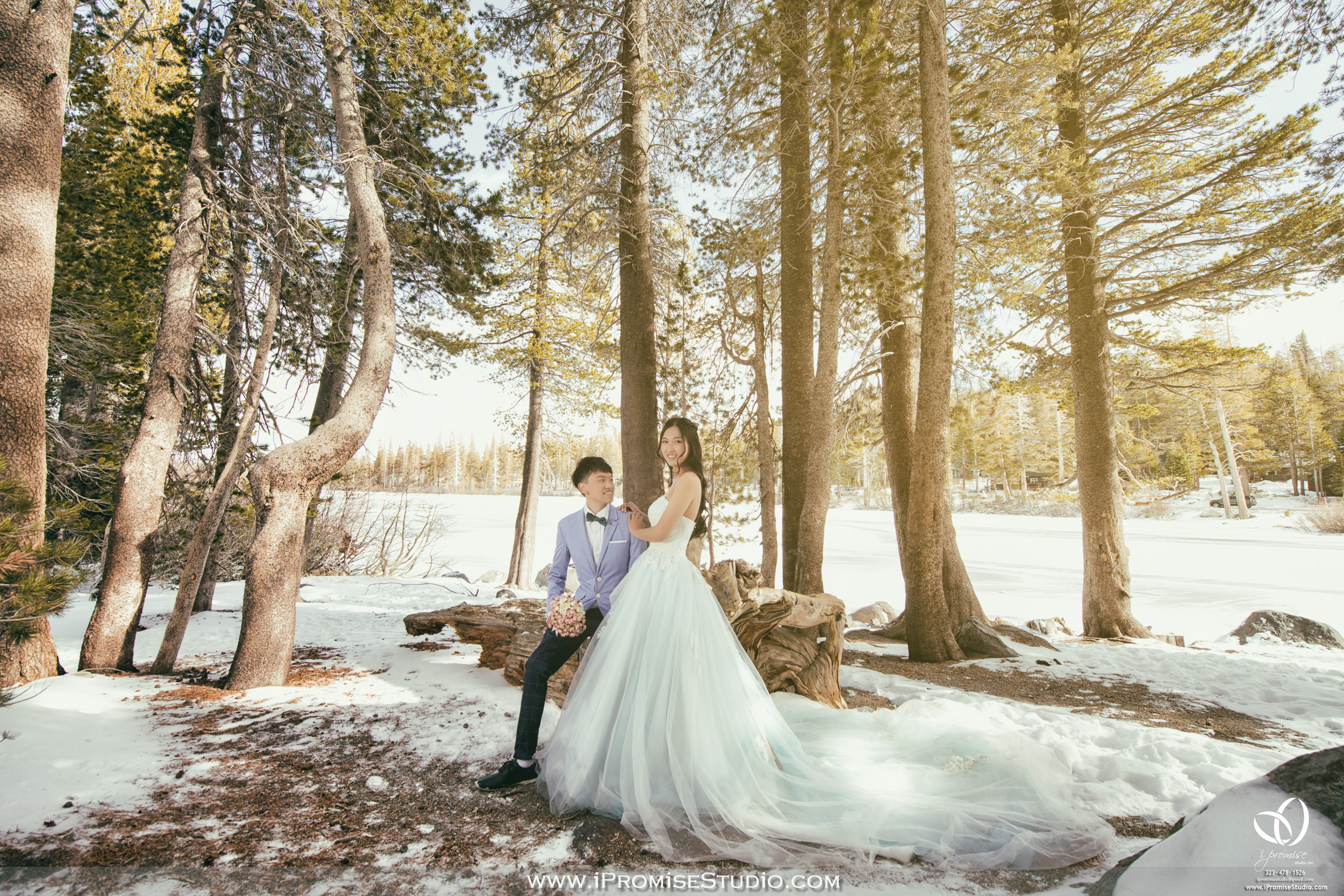 Mammoth Bigbear Lake Mountain  Snow Scene  engagement wedding 03.JPG